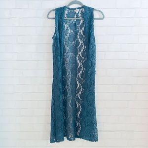 LuLaRoe Joy-long lace kimono